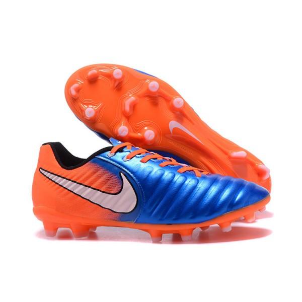 plan de estudios agua Parpadeo  2017 New Soccer Shoes Nike Tiempo Legend VII FG - Blue Orange
