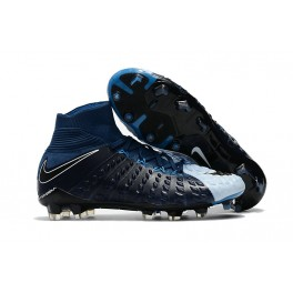 New Nike Hypervenom Phantom III DF FG For Sale Black Blue