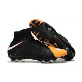 New Nike Hypervenom Phantom III DF FG For Sale Black White Laser Orange Volt