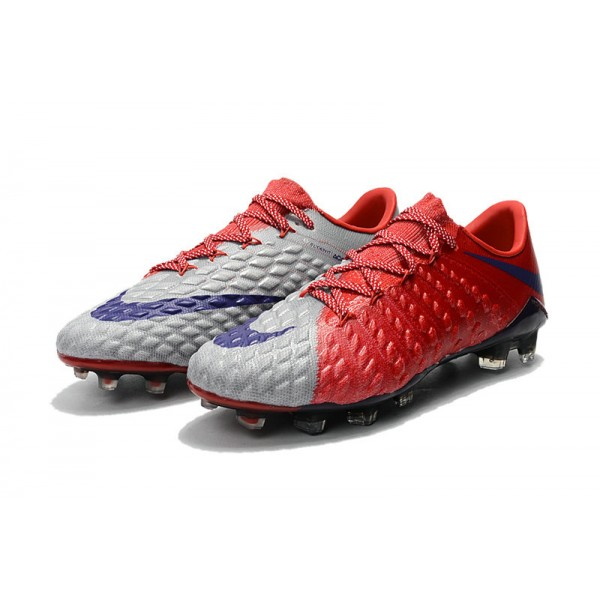 FG Soccer Cleats For Men Red Grey Blue
