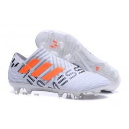 New Arrival Shoes For Men - Adidas Nemeziz 17+ 360 Agility FG White Orange Grey