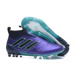 New Adidas ACE 17+ Purecontrol FG Football Boots Purple Black Blue