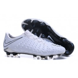 Nike Hypervenom Phantom III FG Low Price Soccer Cleats White Black