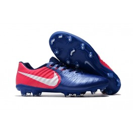 2017 New Soccer Shoes Nike Tiempo Legend VII FG - Blue Pink