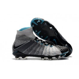 New Nike Hypervenom Phantom III DF FG For Sale Grey Black Blue