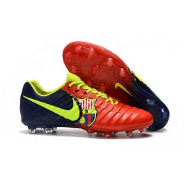 New Soccer Shoes for Men Nike Tiempo Legend VII FG - Red Blue Volt