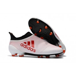 New Adidas X 17+ Purespeed FG - Soccer Shoes White Red Black