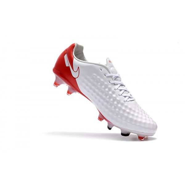 Nike Magista Opus II FG Men's Football Cleats White Red