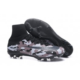 New Nike Mercurial Superfly 5 FG - Nike Shoes For Men Camouflage Grey Black