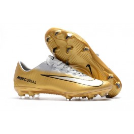 New Nike Mercurial Vapor XI FG Soccer Cleats for Men Gold White