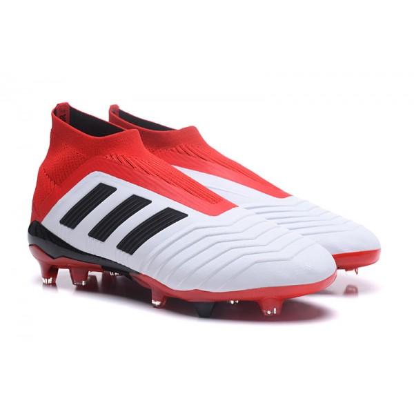 purchase cheap 77cfe 70fc1 ... italy nuevo soccer 18 zapatos for hombre adidas predator 18 soccer fg  blanco negro rojo 6de54a