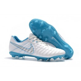New Soccer Shoes for Men Nike Tiempo Legend VII FG - White Blue