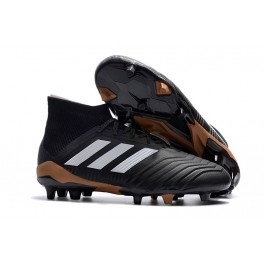 Adidas Predator 18.1 FG Soccer Cleats For Men Core Black White Solar Red