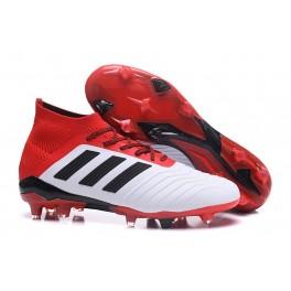 Adidas Predator 18.1 FG Soccer Cleats For Men White Black Red