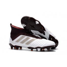 cd313c169e9 Adidas Predator 18.1 FG Soccer Cleats For Men White Brown