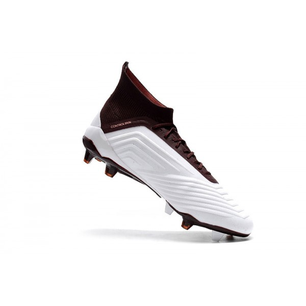 53cf587dbb5 Adidas Predator 18.1 FG Soccer Cleats For Men White Brown