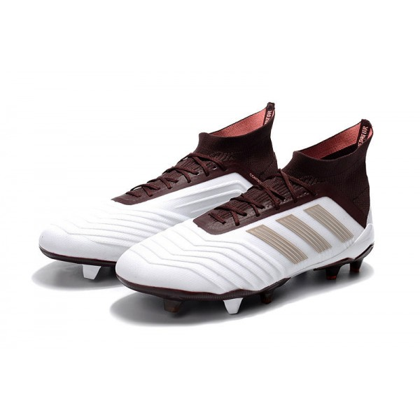 Adidas Predator 18.1 FG Soccer Cleats For Men White Brown 3f5d2784bb4