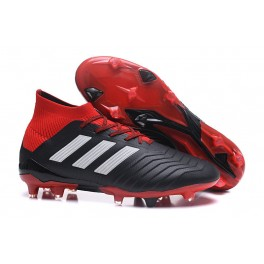 low priced 92fa5 4432e Adidas Predator 18.1 FG Soccer Cleats For Men Black Red White