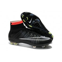 2015 Nike Men's Mercurial Superfly FG Football Cleats Black White Punch Volt