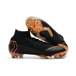 New - Nike Mercurial Superfly 6 Elite FG Soccer Cleats Black Total Orange White