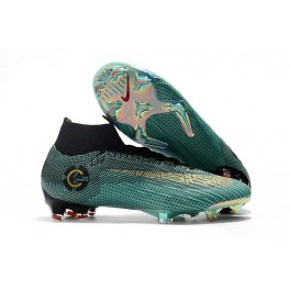 New - Nike Mercurial Superfly 6 Club Ronaldo FG Soccer Cleats Clear Jade Metallic Vivid Gol Black