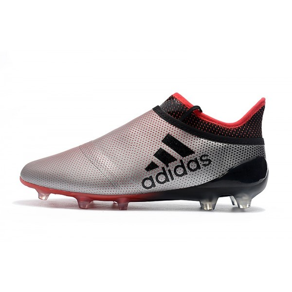 New Adidas X 17+ Purespeed FG - Soccer Shoes Silvery Red Black 1a71e5c2b