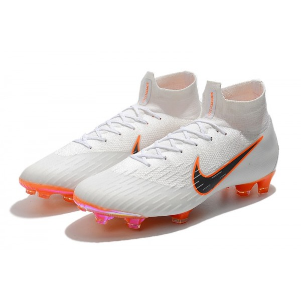 077fae02cd3ca New - Nike Mercurial Superfly 6 Elite FG Soccer Cleats White Metallic Cool  Grey Total Orange