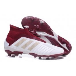 New Soccer Shoes For Men - Adidas Predator 18+ FG White Red