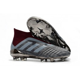 New Soccer Shoes For Men - Adidas Paul Pogba Predator 18+ FG Iron Metallic