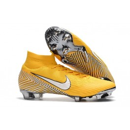 New - Nike Mercurial Superfly 6 Elite FG Soccer Cleats Amarillo White Black