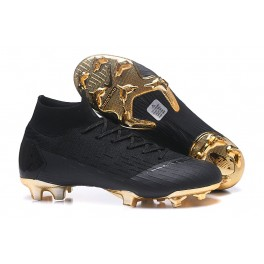 4f1b266633f New - Nike Mercurial Superfly 6 Elite FG Soccer Cleats Black Gold