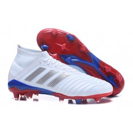 Adidas Predator Telstar  18.1 FG Soccer Cleats For Men Silver Red Blue