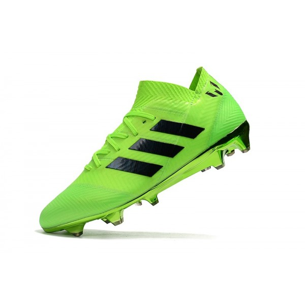 c62d6e403aa Soccer Shoes - Adidas Nemeziz Messi 18.1 FG Green Black