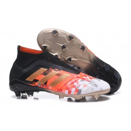 New Soccer Shoes For Men - Adidas Predator 18+ FG Core Black Metallic Copper Solid Grey