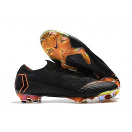 New Nike Mercurial Vapor XII 360 Elite FG Soccer Cleats Black Total Orange White