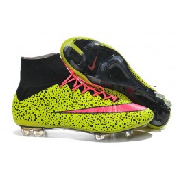 2015 Nike Men's Mercurial Superfly FG Football Cleats Yellow Pink Black