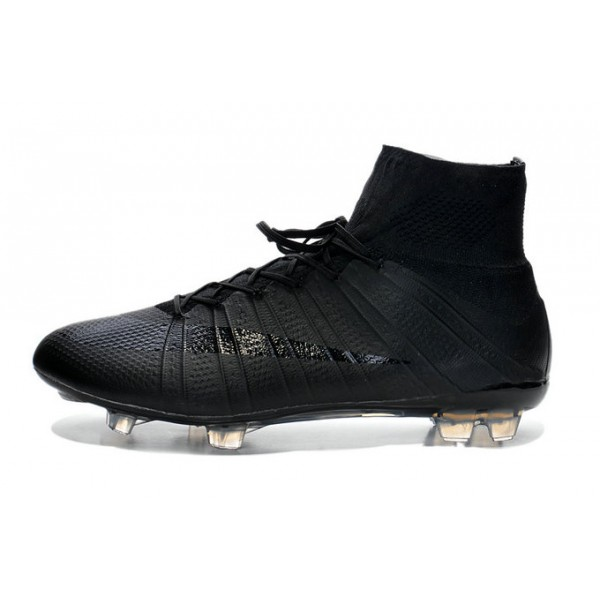 Nike Mercurial Superfly FG Soccer Cleats Cheap Shoes all Black 9ca24836e